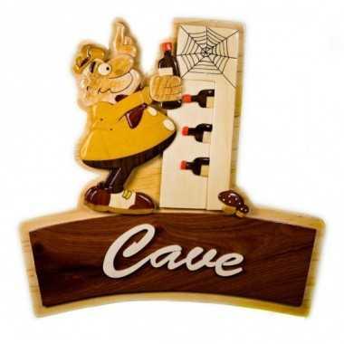 Plaque de porte en bois Cave