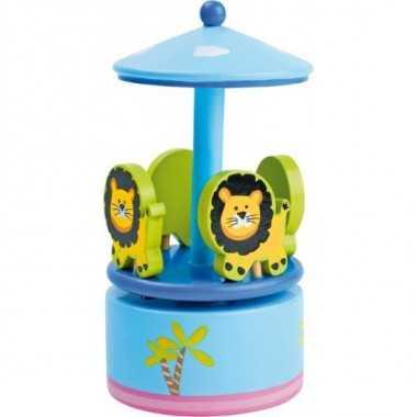 Boite a musique carrousel danse des lions