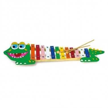 xylophone en bois crocodile