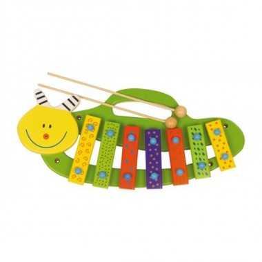 xylophone en bois chenille