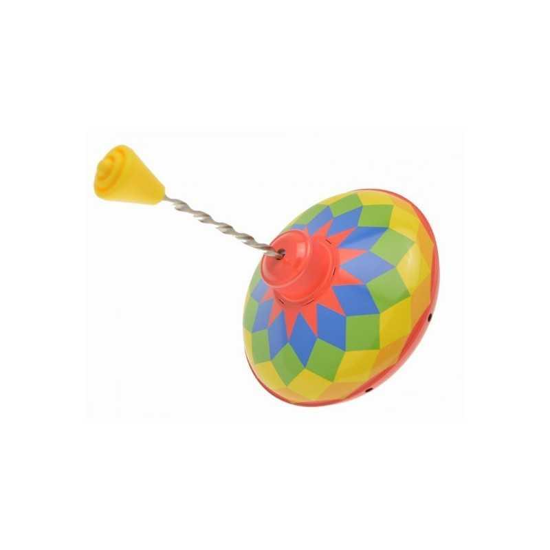 Toupie en Métal d'Antan Multicolores