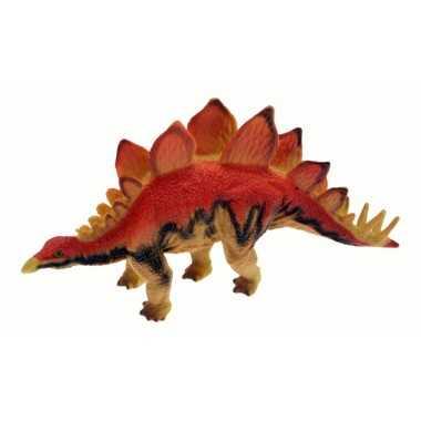Stegosaurus dinosaure rouge