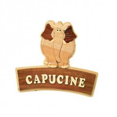 ELEPHANT - Plaque de porte prénom en bois