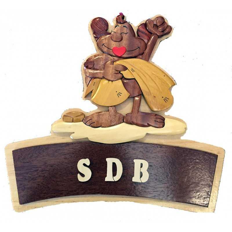 Plaque de porte sdb