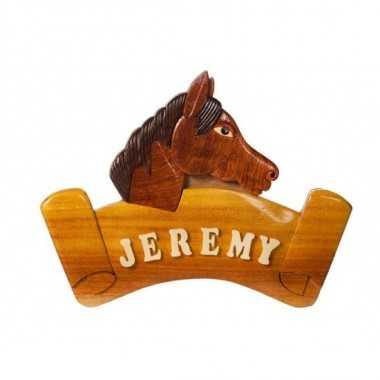 La plaque prénom en bois Cheval