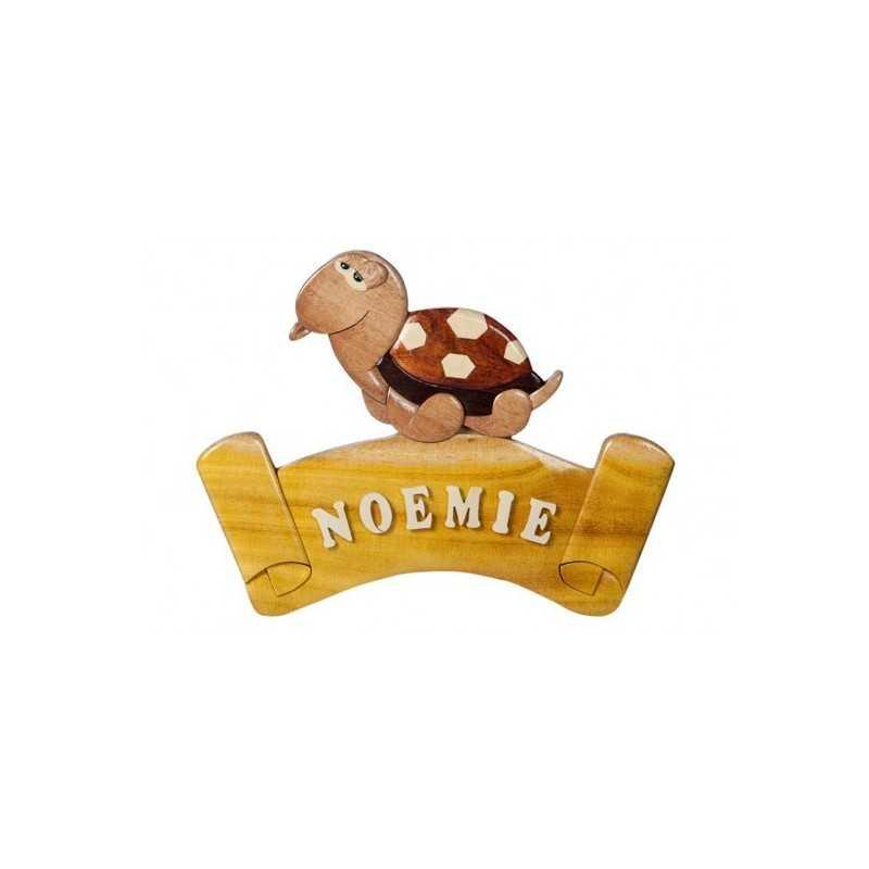 La plaque prénom en bois Tortue