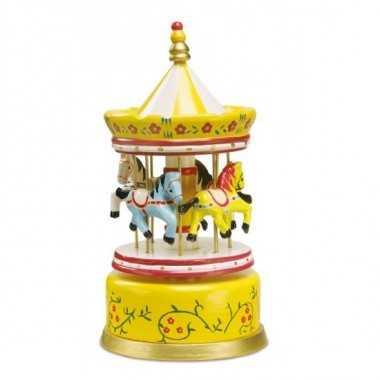 Boite a musique carrousel jaune