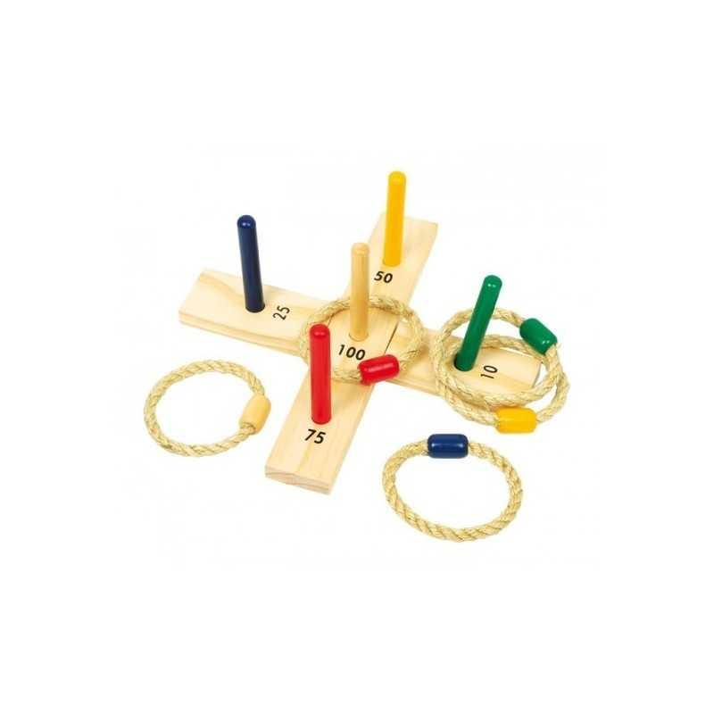 jeu en bois lancer des anneaux