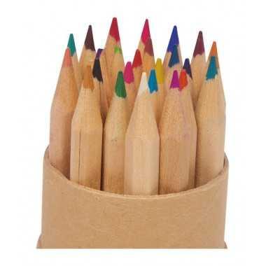 Crayons de couleurs en bois nature rond