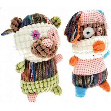 Peluche animaux patchwork 20cm