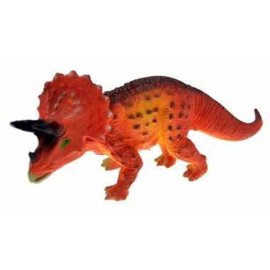 Triceratops dinosaure rouge