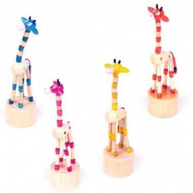 Le Wakouva Girafe en bois naturel